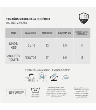 Mascarilla higiénica reutilizable Gryffindor TALLA INFANTIL - Harry Potter