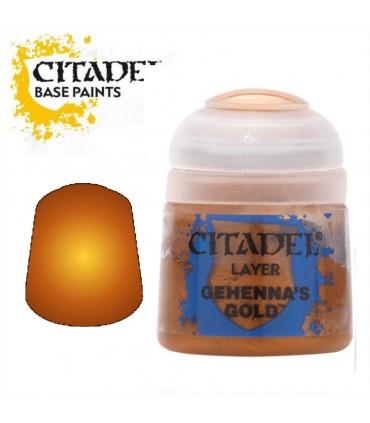 Toda la gama Citadel Base al mejor precio Pintura Layer Gehenna's Gold en Cuernavilla.com