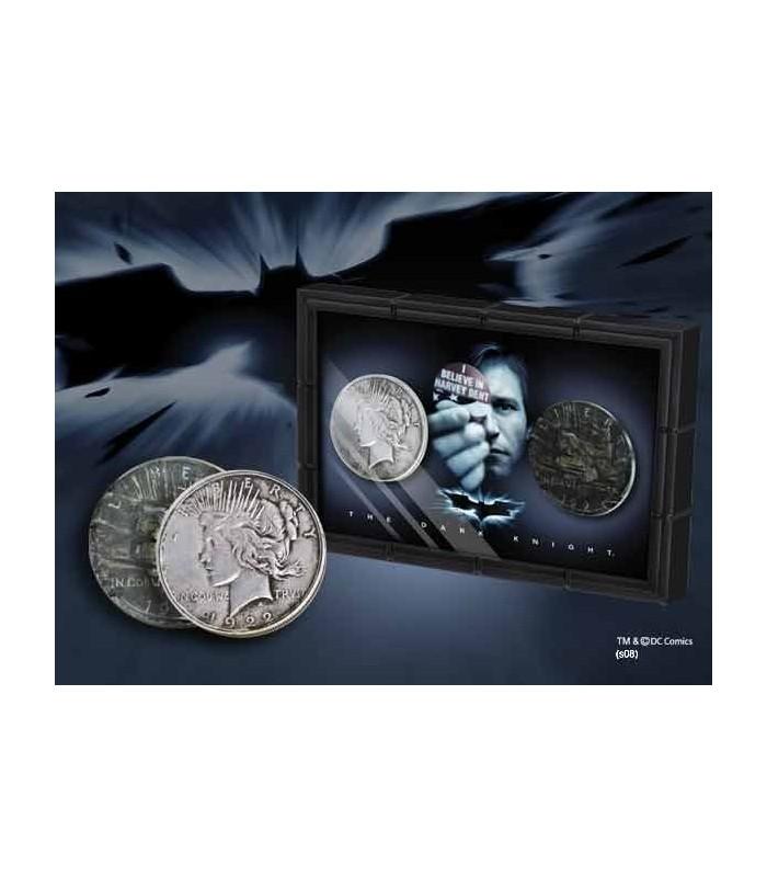 """Monedas Harvey Dent """"Dos Caras"""" Set de 2 en Expositor"""
