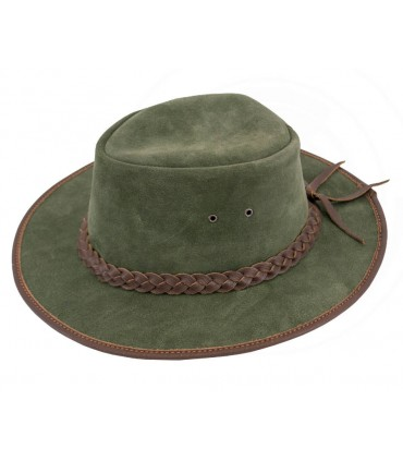 Sombrero vaquero de piel vuelta verde