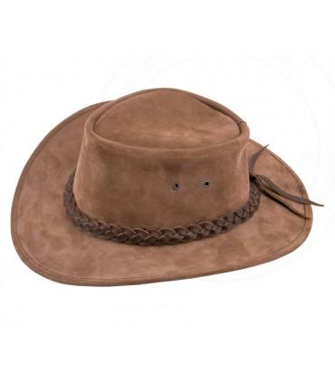 Sombrero vaquero en piel vuelta marrón