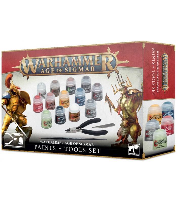 Set de pinturas y herramientas- Warhammer Age of Sigmar
