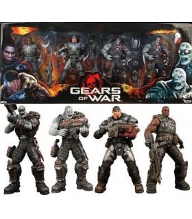Caja Deluxe 4 Figuras Gears of War Marcus, Cole y 2 Locust