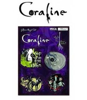 Imanes Coraline Set de 6 Imanes Los Mundos de Coraline
