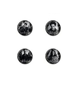 "Pack 4 Chapas ""Bad Vamps"" Crepúsculo - Twilight Pin Set"