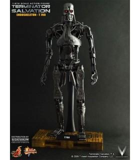 Figura T-700 Hot Toys Terminator Salvation 30cm c/Luz Sideshow