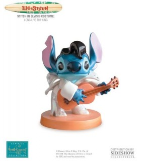 Figura Stitch in Elvis Costume Estatua Long Live the King