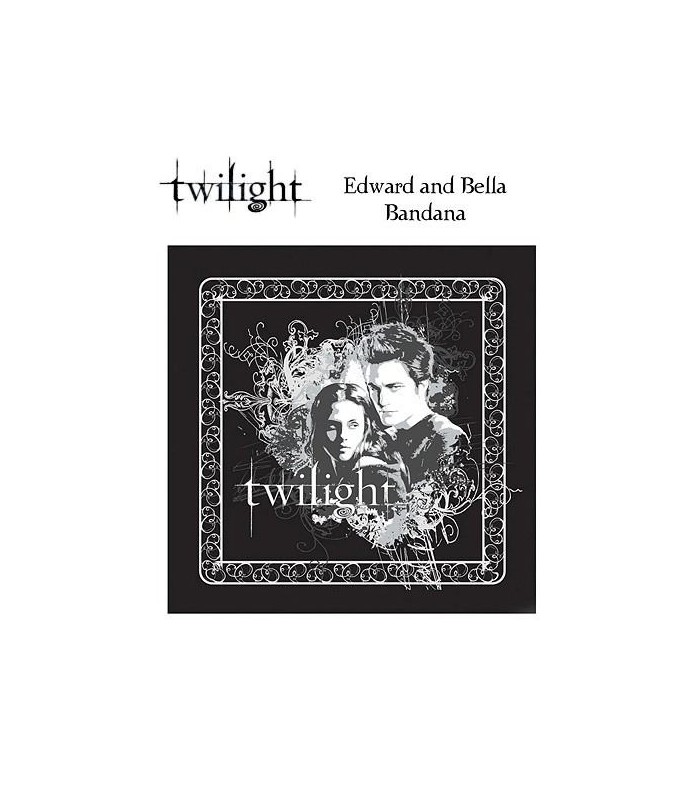 Bandana Edward y Bella Pañuelo de Cabeza Twilight (Crepúsculo)