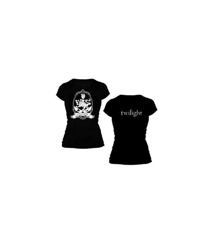 "Camiseta ""Escudo Cullen"" Crepúsculo Twilight para Chica, Talla L"