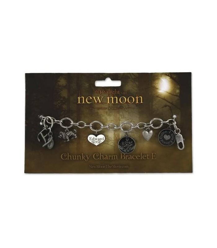 "Pulsera Brazalete Amuletos ""E"" Luna Nueva (New Moon) Crepúsculo"