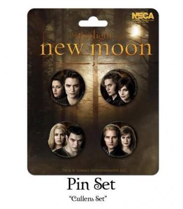 Chapas Los Cullen Set de 4 Luna Nueva New Moon Crepúsculo