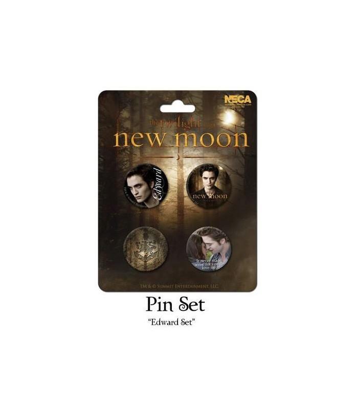 Chapas Edward Cullen Set de 4 Luna Nueva New Moon Crepúsculo