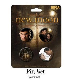 Chapas Jacob Black Set de 4 Luna Nueva New Moon Crepúsculo