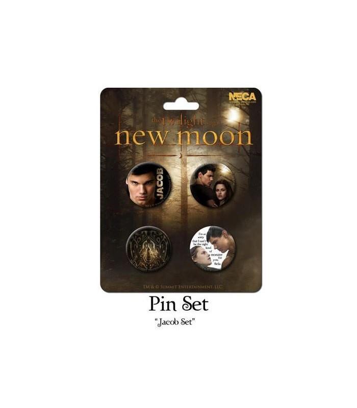 Chapas Jacob Black Set de 4 Luna Nueva New Moon Crepúsculo