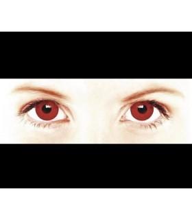 Lentes de Contacto Rojas Zombie Sangre Lentillas Halloween