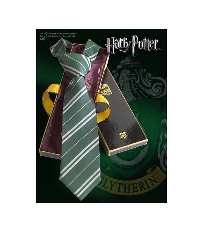 Corbata Slytherin 100% Seda (Noble Collection)