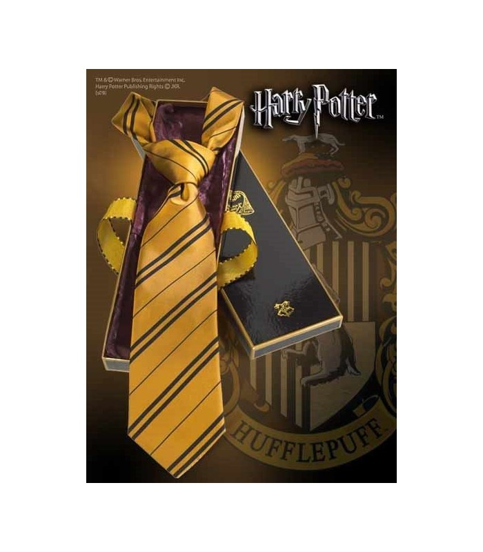 Corbata Hufflepuff 100% Seda (Noble Collection)
