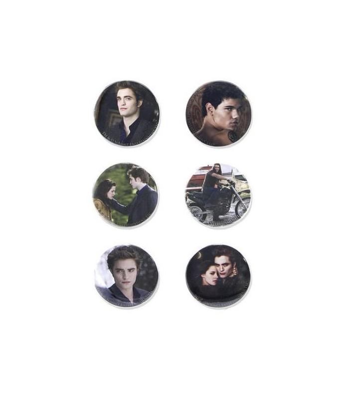 Chapas Edward, Jacob y Bella Set de 6 Luna Nueva Crepusculo