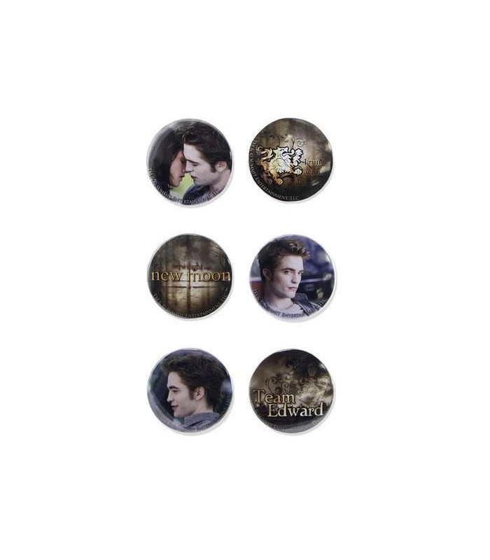 Chapas Team Edward Set 6 Luna Nueva Crepusculo New Moon Twilight