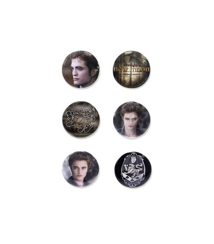 Chapas Edward Cullen Set de 6 Luna Nueva Crepusculo New Moon