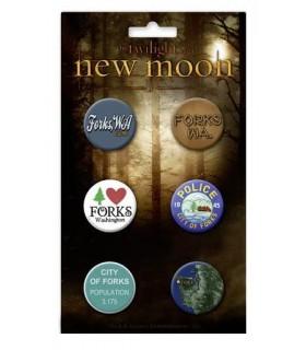 Chapas Forks Set de 6 Luna Nueva Crepusculo New Moon Twilight