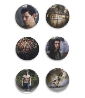 Chapas Jacob Black Quileute Set 6 Luna Nueva Crepusculo New Moon