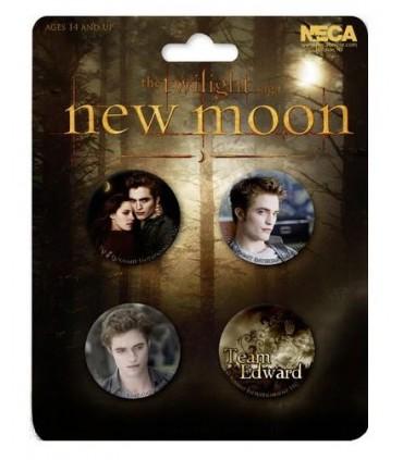 Chapas Team Edward Set de 4 Luna Nueva Crepusculo New Moon