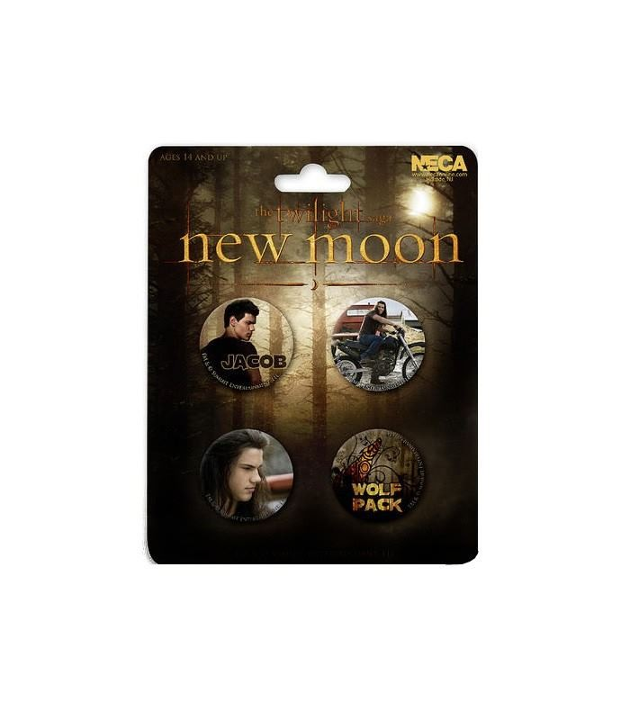 Chapas Jacob Wolf Pack Set de 4 Luna Nueva Crepusculo New Moon