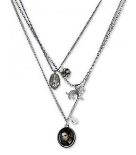 Colgante Triple Cadena Edward Cullen Relicario Luna Nueva