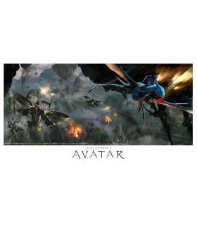 Lamina Avatar Aerial Battle Giclée en Papel