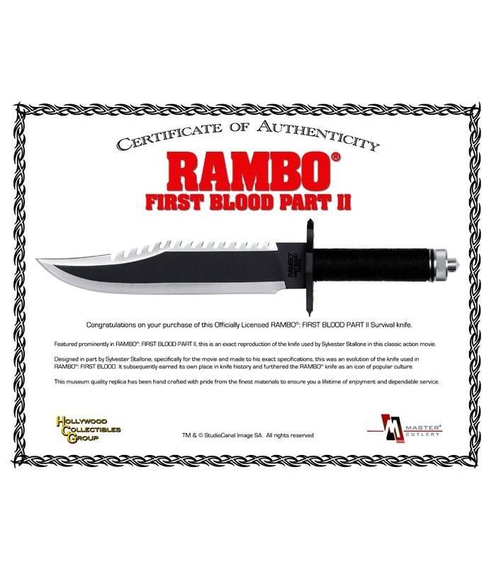 Cuchillo Machete Rambo Parte II Acorralado Standard Edition
