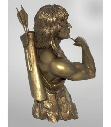 Busto Rambo Faux Bronce Estatua Escala 1:3 Edición Limitada