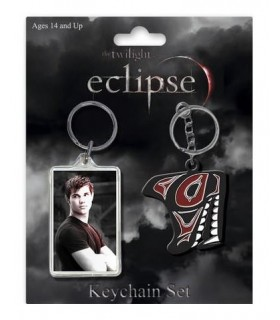 Pack Dos Llaveros Jacob Black Eclipse Crepúsculo Twilight