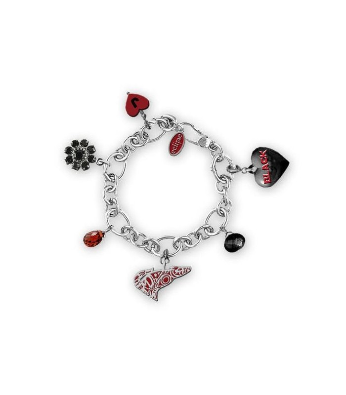 Pulsera Amuletos Corazón Negro Jacob Black Eclipse Crepúsculo