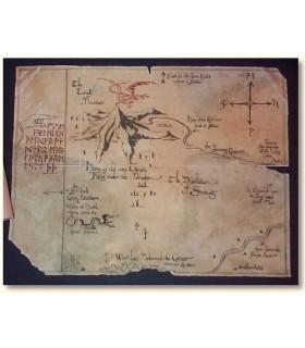 Mapa de Thror (de El Hobbit) - Enmarcado