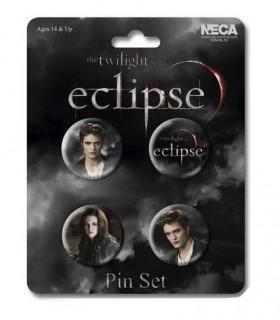 Chapas Edward y Bella Set de 4 Eclipse Crepúsculo Twilight