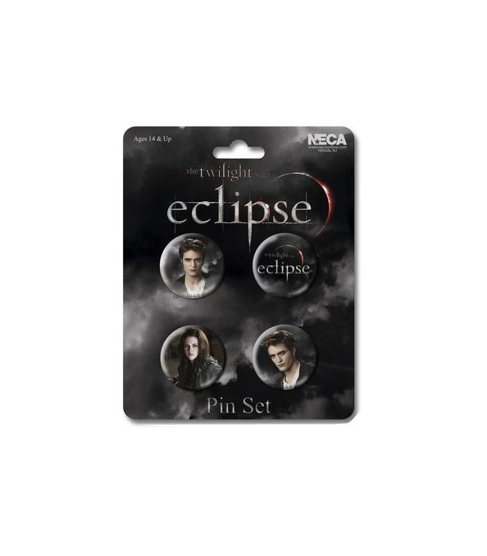 Chapas Edward y Bella Set de 4 Eclipse Crepúsculo Twilight