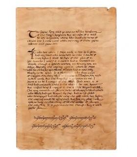 El Pergamino de Isildur - Inglés - La Comunidad del Anillo
