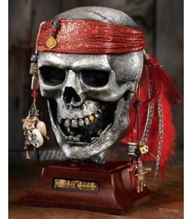 Escultura Calavera Estaño Piratas del Caribe