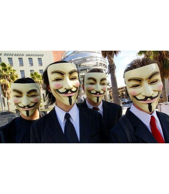 Máscara de V de Vendetta (Guy Fawkes, Anonymous) Réplica Oficial