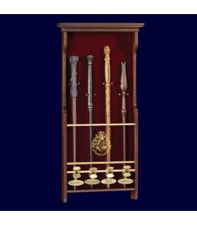 Expositor de Pared para 4 Varitas Mágicas Harry Potter