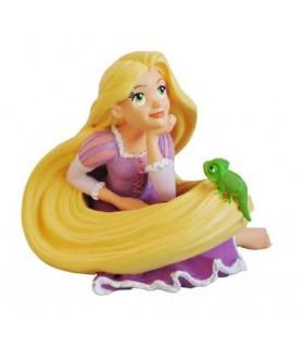 Figura Rapunzel y Pascal 7 cms Enredados Disney