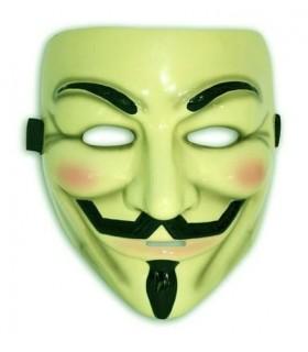 Máscara de V de Vendetta (Guy Fawkes, Anonymous) Oficial DELUXE