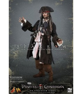 Figura Jack Sparrow Movie Masterpiece Piratas del Caribe E. 1:6