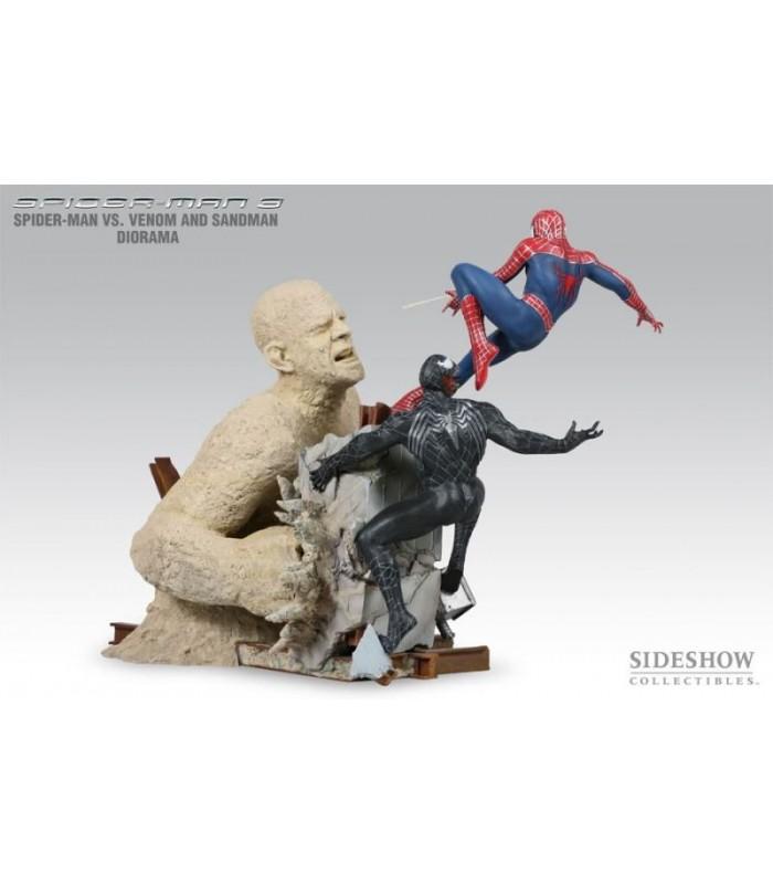 Diorama Spiderman vs. Venom and Sandman Spider-man 3 Sideshow