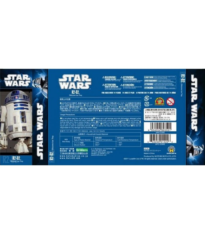Cubitera Molde Silicona R2D2 Star Wars