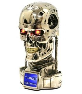 Busto Terminator T-800 Cabeza Endoesqueleto con LEDs Replica 1:2