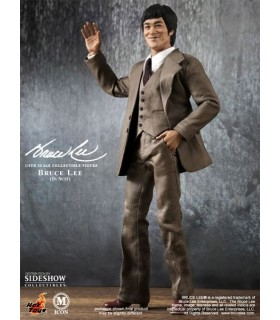 Figura Bruce Lee Suit Version con Traje 30cm Escala 1:6