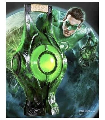 Réplica Linterna Verde Power Lantern 35cm Green Lantern