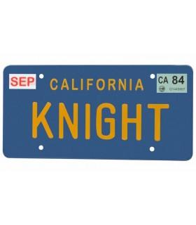 Matrícula KITT El Coche Fantástico Réplica 1:1 Knight Rider